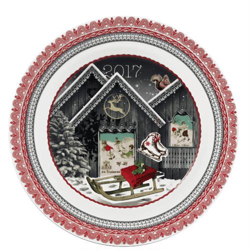 クリスマスイヤープレート デザートプレート 2017シャレー
