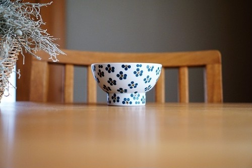 砥部焼/くらわんか茶碗(大)/青小紋/すこし屋
