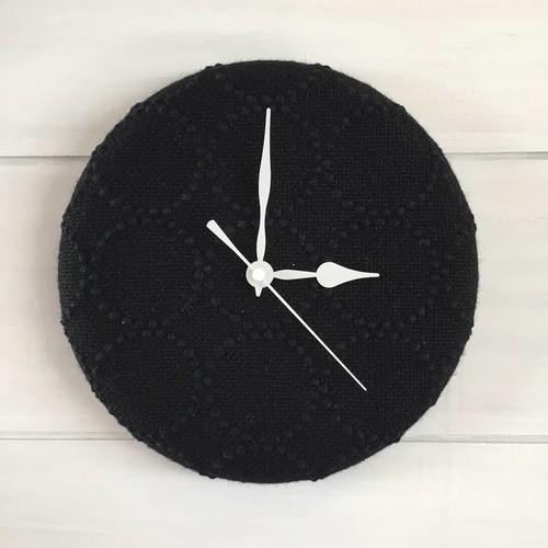 タンバリン掛け時計 黒×白針