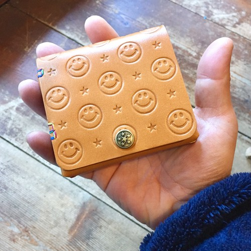 SMILE Leather Half wallet mini / ★