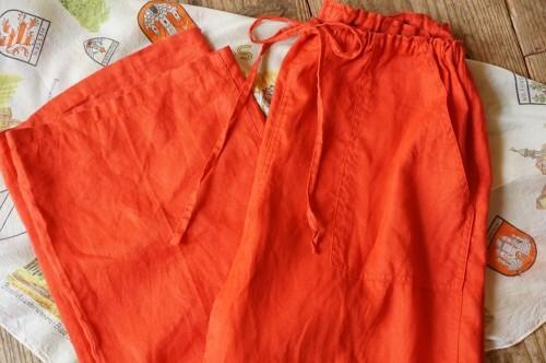 blight orange linen easy Pants