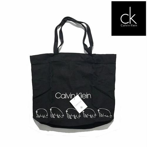 Calvin Klein  カルバンクライン ロゴ トートバッグ ダークグレー【3895025252-blk】