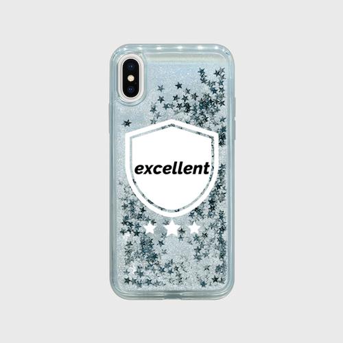excellent グリッターiPhoneケースX/XS グリッタースマホケース iPhone X/XS シルバースター