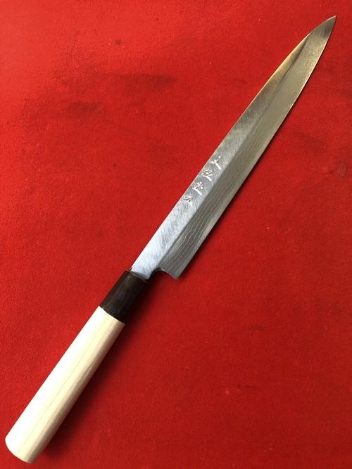 柳刃包丁 多層鋼 9寸 (安来青鋼 片刃)