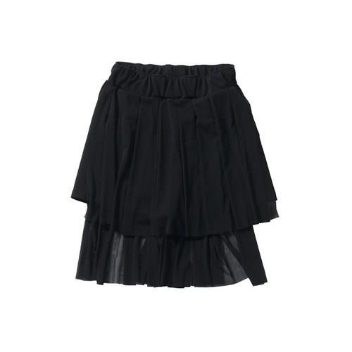 tulle layered pants #double black