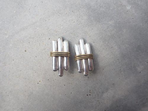 〈vintage silver925〉three line earrings