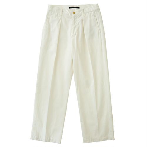 【WOMEN'S】CTTN CHINO TUCK PANTS / コットンチノタックパンツ(WHT)