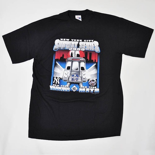 【Dead Stock】Majestic 2000 World Series New York City Subway Series  Yankees vs Mets T-shirt