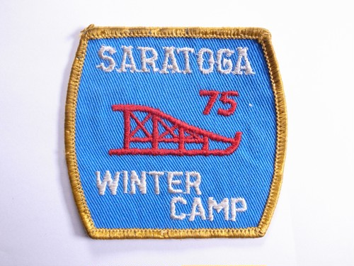 "OLD PATCH""SARATOGA WINTER CAMP 75"""