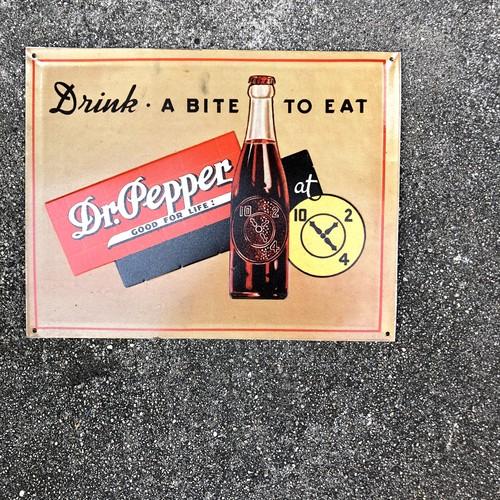 Dr Pepper ドクターペッパー コカコーラ ビンテージ メタルサイン アメリカ 当時物 90年代