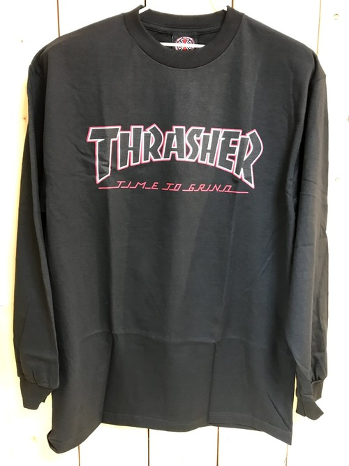 INDEPENDENT x THRASHER TTG L/S Tee BLACK