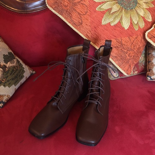 【22.5,23,23.5のみ】brown lace up boots