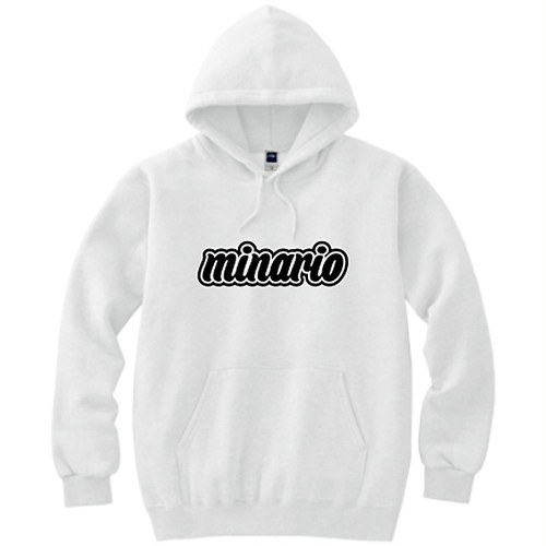 minario / BACKPACK HOODED SWEATSHIRT WHITE