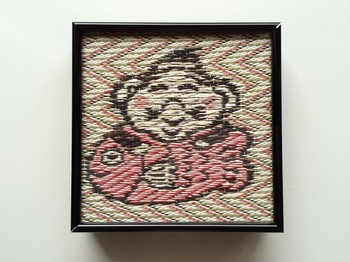 額ござ シルバー・ブラックフレーム (小)Goza frame (S)