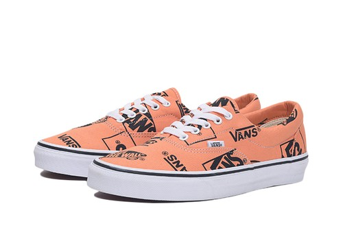 VANS ERA(LOGO MIX) TANGERINE/BLACK