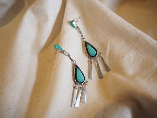 <vintage silver925>navajo native fringe pierce