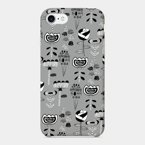 【flowers-mono】 phone case (iPhone / android)