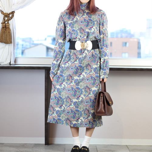 USA VINTAGE PAISLEY PATTERNED ONE PIECE/アメリカ古着ペイズリー柄ワンピース