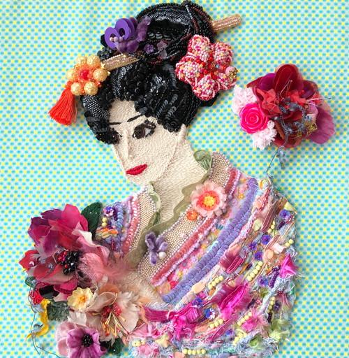花を愛でる 〜Appreciate flowers〜 【刺繍 ビーズ】