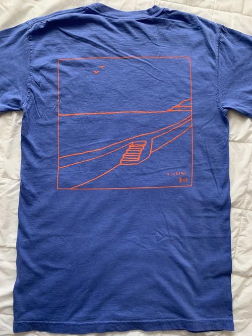【SALE】「夏の手」Tシャツ (フローブルー)