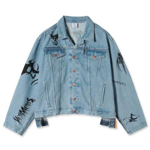 VETEMENTS / Tribal Oversized Denim Jacket