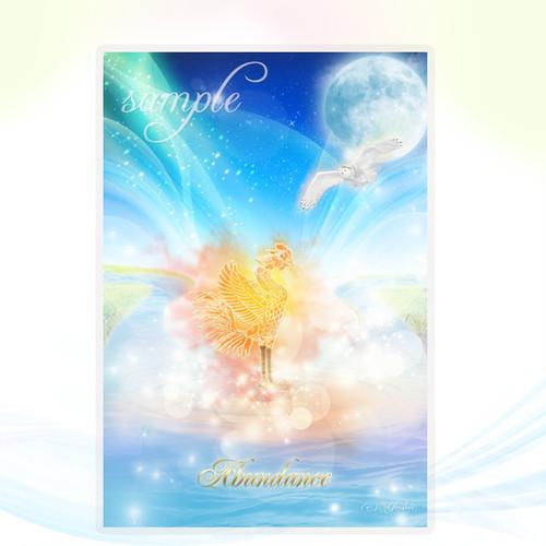Abundance(豊かさ)鳳凰メッセージカードch.014L
