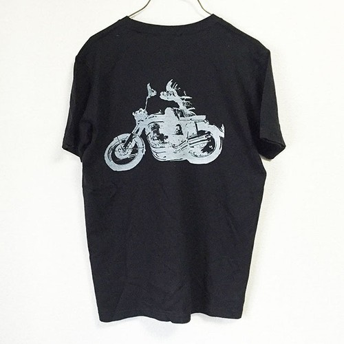 CB750 T-shirts  BLACK/SILKSCREEN No,2016-01