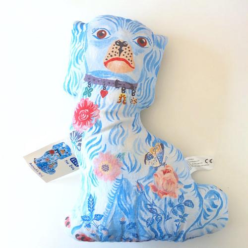 """Nathalie Lete """"Blue Cheshire Dog"""" ナタリーレテ スタッフォードシャードッグ 人形 ドール"""