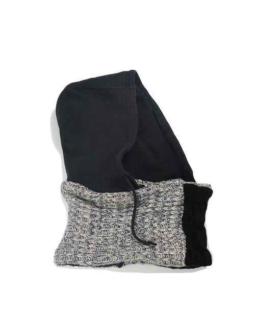 remake hoodie snood (black hood)