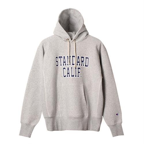 STANDARD CALIFORNIA #Champion × SD Reverse Weave Hood Sweat Gray