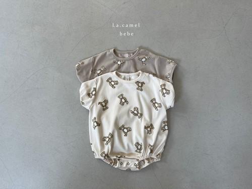 『翌朝発送』bear baby-suit【baby】〈La.camel〉