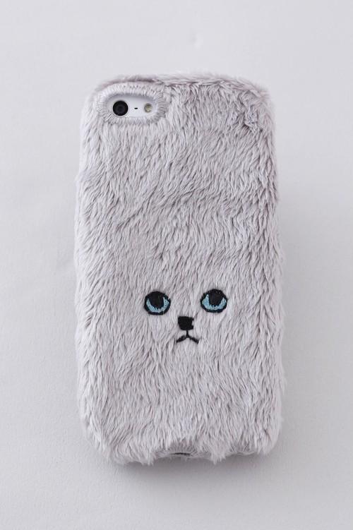 【KEORA KEORA】ネコiPhone6/6Sカバー(グレー)