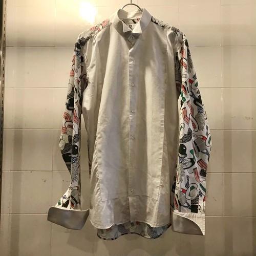 ジェントマンモチーフ満載ドレスシャツ