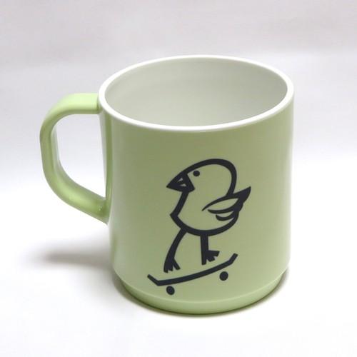 "DISKAH "" Killy Bird "" マグカップ グリーン ECOMATE MUG CUP"