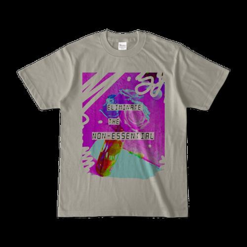 Tシャツ Eliminate the non-essential.(シルバーグレー)