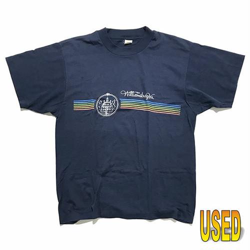 USED TEE ユーズド Tシャツ 『Velva Sheen』80年代 スーベニアTシャツ 【pru0045-navy】L