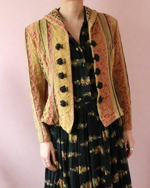 oriental figured fabric jacket