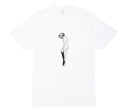 WHIMSY / MASKED CATHIE TEE -WHITE-