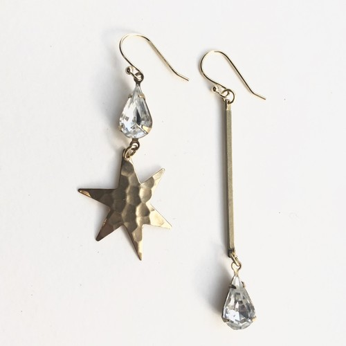 Starglass drop earrings No.403