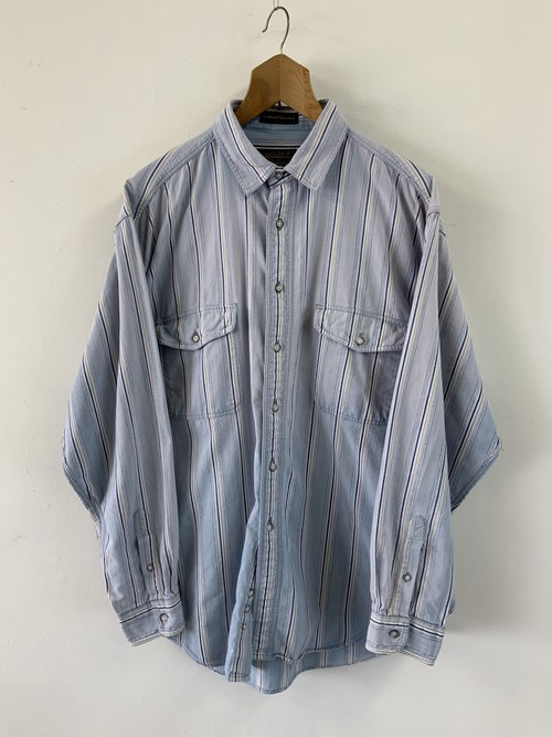 Eddie Bauer Chambray Stripe Shirt