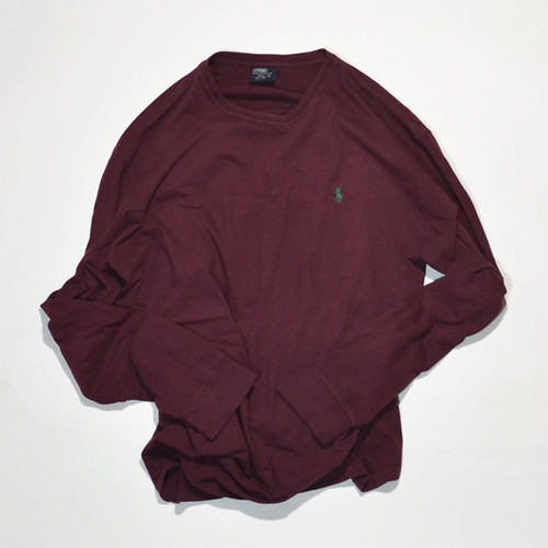 Used☆ POLO Ralph Lauren L/S Tee(burgundy)