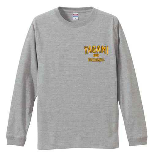 YGM classic logo L/S T-shirt (Gray)