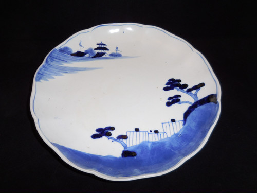 染付け九寸皿(5客) Blue&white porcelain five plates