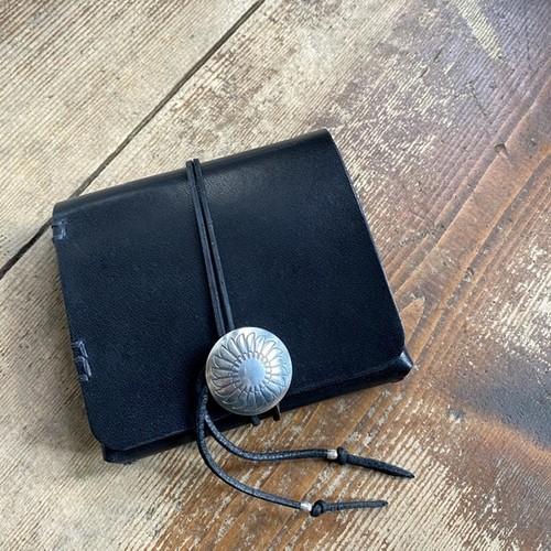 Leather Half wallet mini / Black