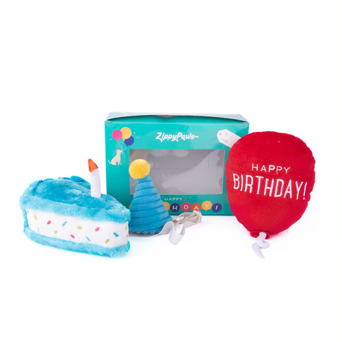 Zippy Paws Birthday BOX お誕生日のお祝いにぴったりな誕生日セット スクイーカー入り