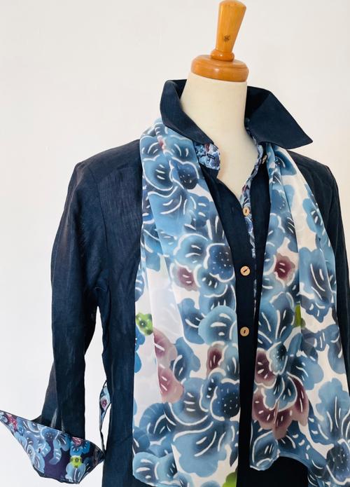 シフォンストール Chiffon shawl (ショート)