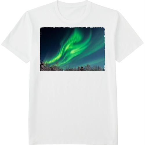 44.Finland100 Tシャツ / オーロラの翼