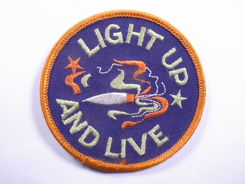 """OLD PATCH""""LIGHT UP AND LIVE"""""""