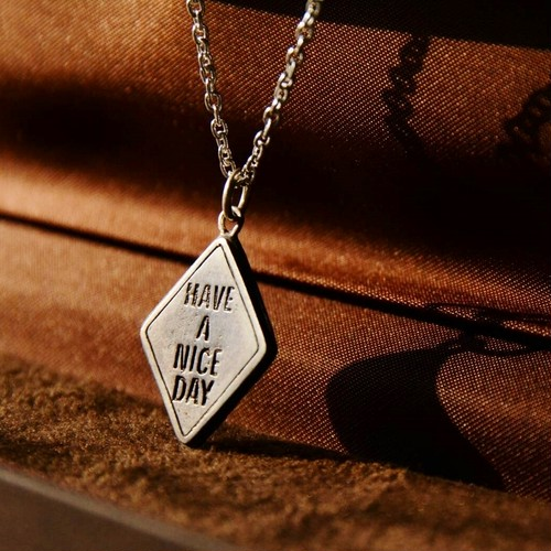 "【DARGO】""HAVE A NICE DAY"" Traffic Silver Necklace"