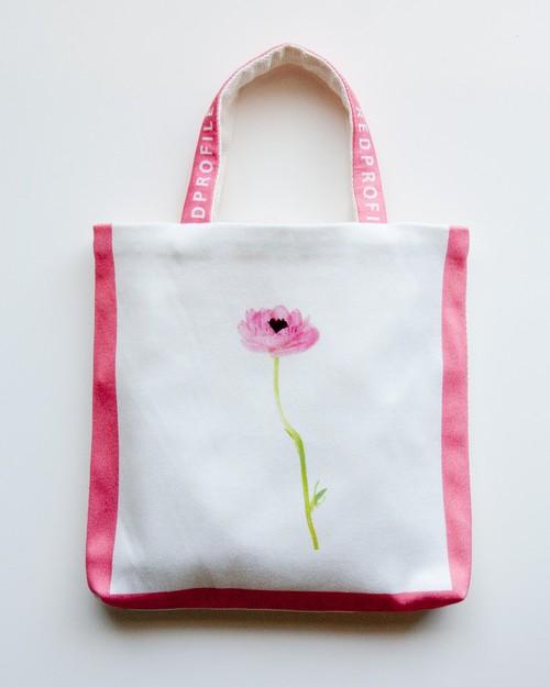 一輪花・手提げバッグ/ピンク